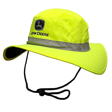 1e60f700b5e Image Unavailable. Image not available for. Color  John Deere Brand High  Visibility Neon Green Bucket Hat