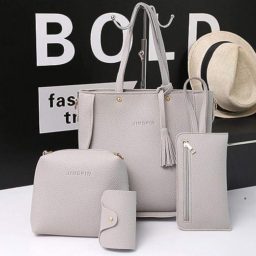 Amazon.com: Outsta - Bolso de mano con 4 bolsas, bolso de ...