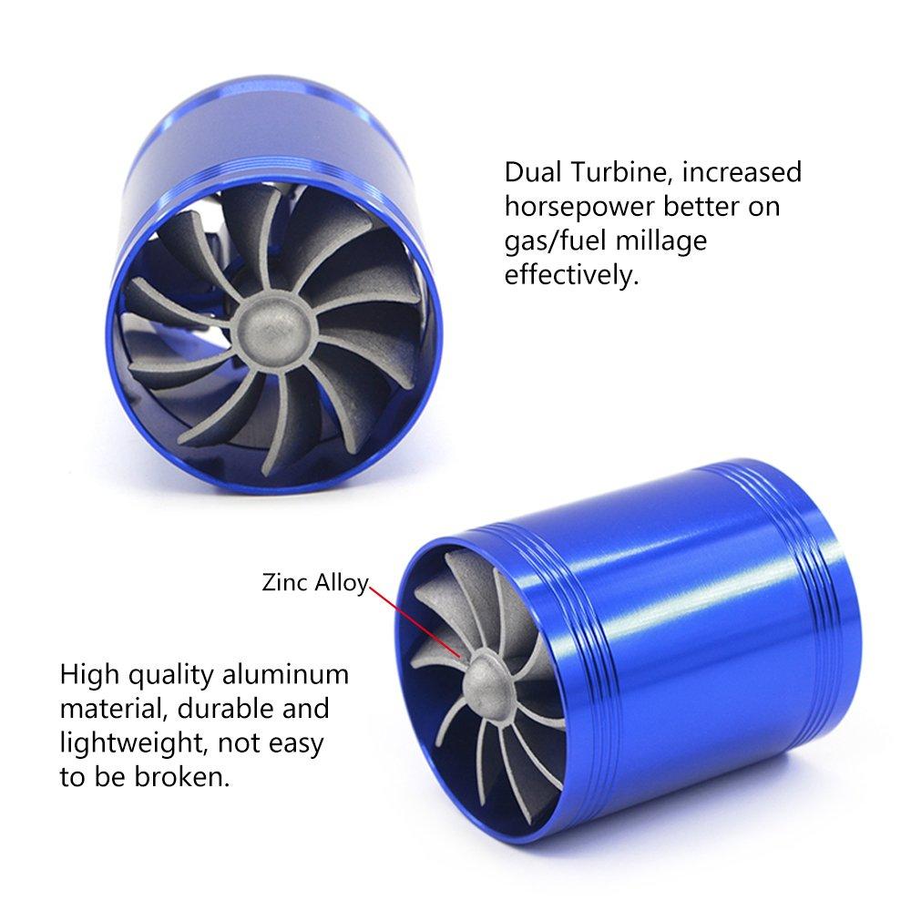 Kit de filtre dadmission dair de voiture de Mesllin 76mm 3 syst/ème universel dadmission dadmission dair froid de fibre de carbone avec le tuyau