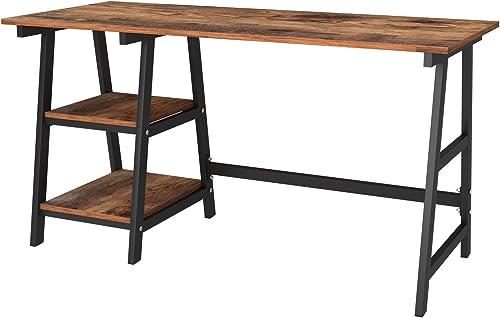 Editors' Choice: Soges 55 inches Computer Desk Trestle Desk Writing Home Office Desk Hutch Workstation