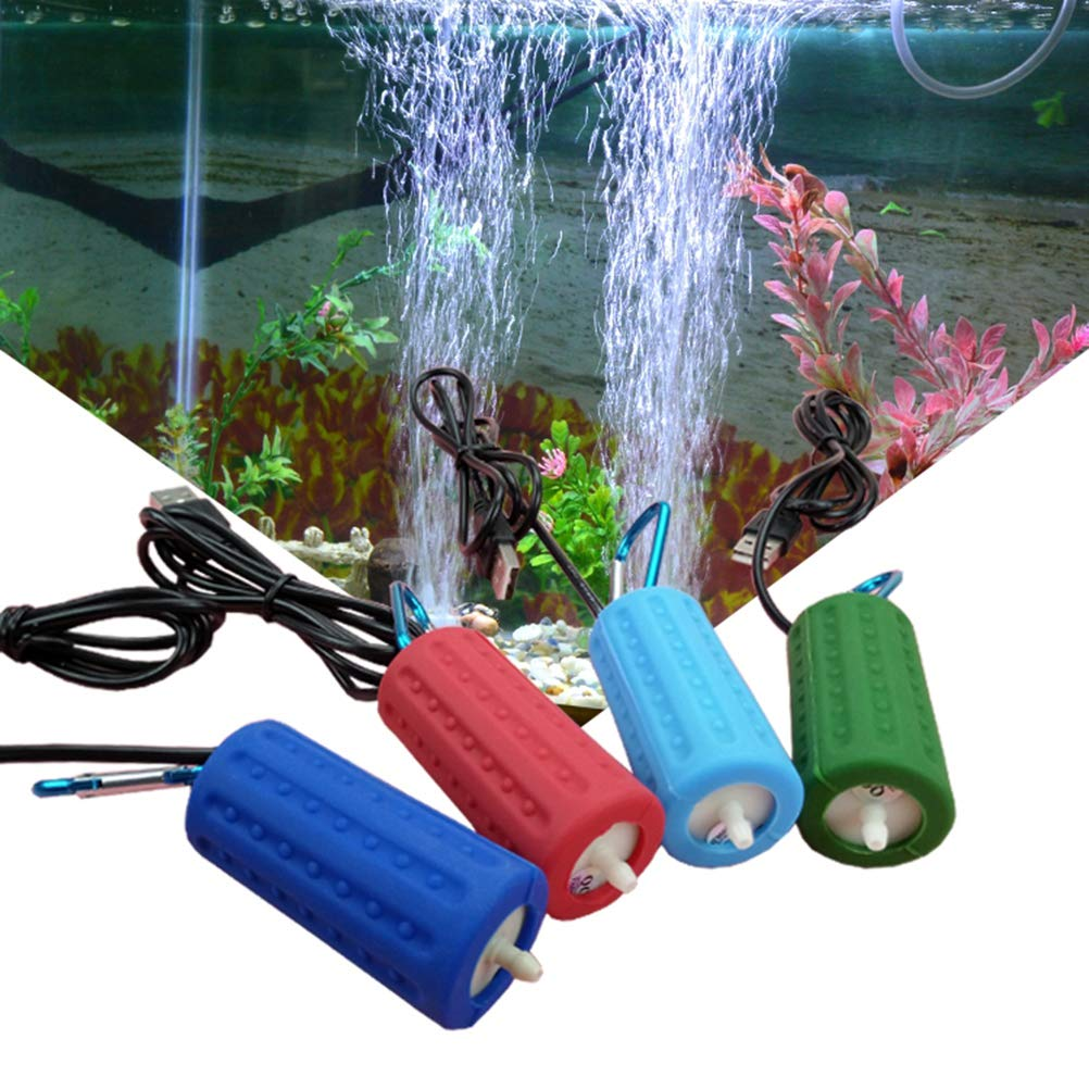 Amazon.com : POPETPOP Aquarium Air Pump USB Powered Silent High Efficient Oxygen Air Aerator Pump for Fish Tank Pond Aquarium : Pet Supplies