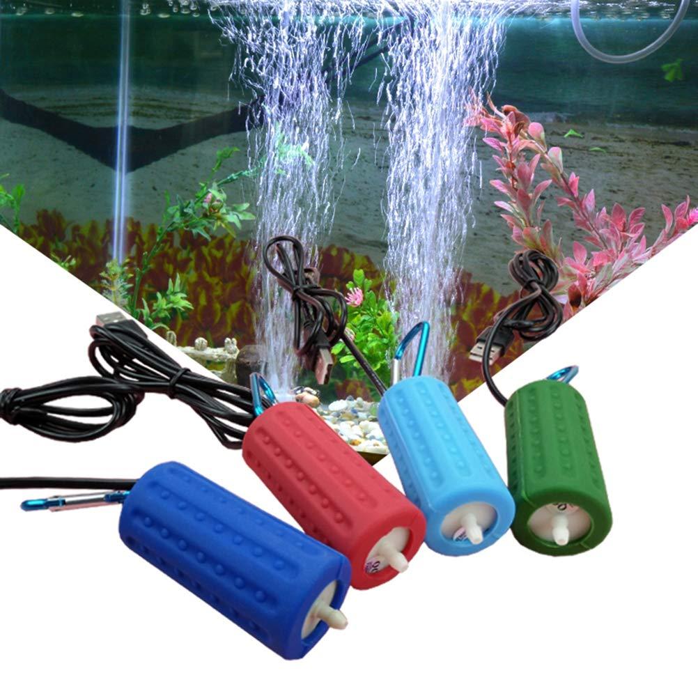 POPETPOP Bomba de Aire del Acuario USB Powered Silencioso Alta eficiente Bomba de aireador de Aire de oxígeno para Fish Tank Pond Aquarium: Amazon.es: ...