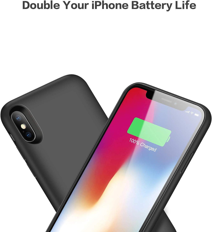 Cover Batteria per iPhone X/XS Kilponen [6500mAh] Ricaricabile