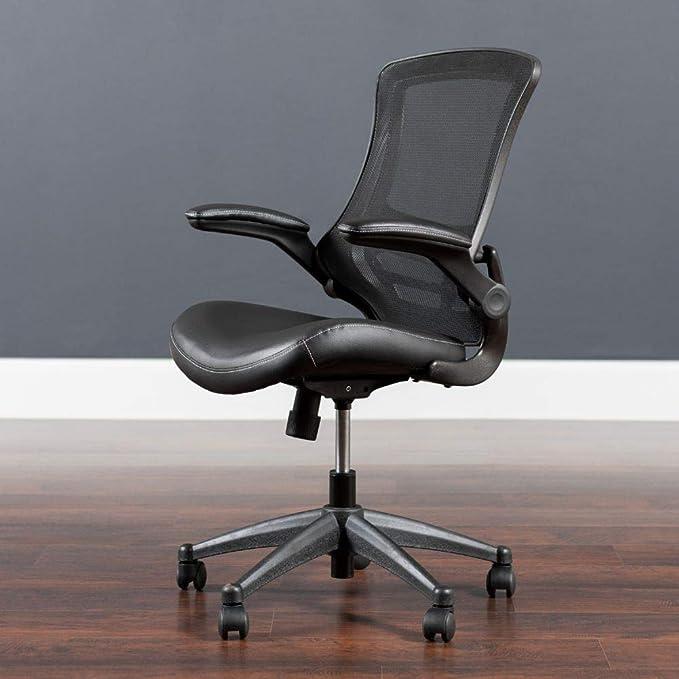 Flash Furniture Mid-Back Black Mesh Ergonomic Office Chairs - Ergonomics