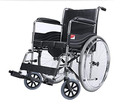 Amazon.com: Silla de ruedas plegable FLRGLY, con un carro de ...