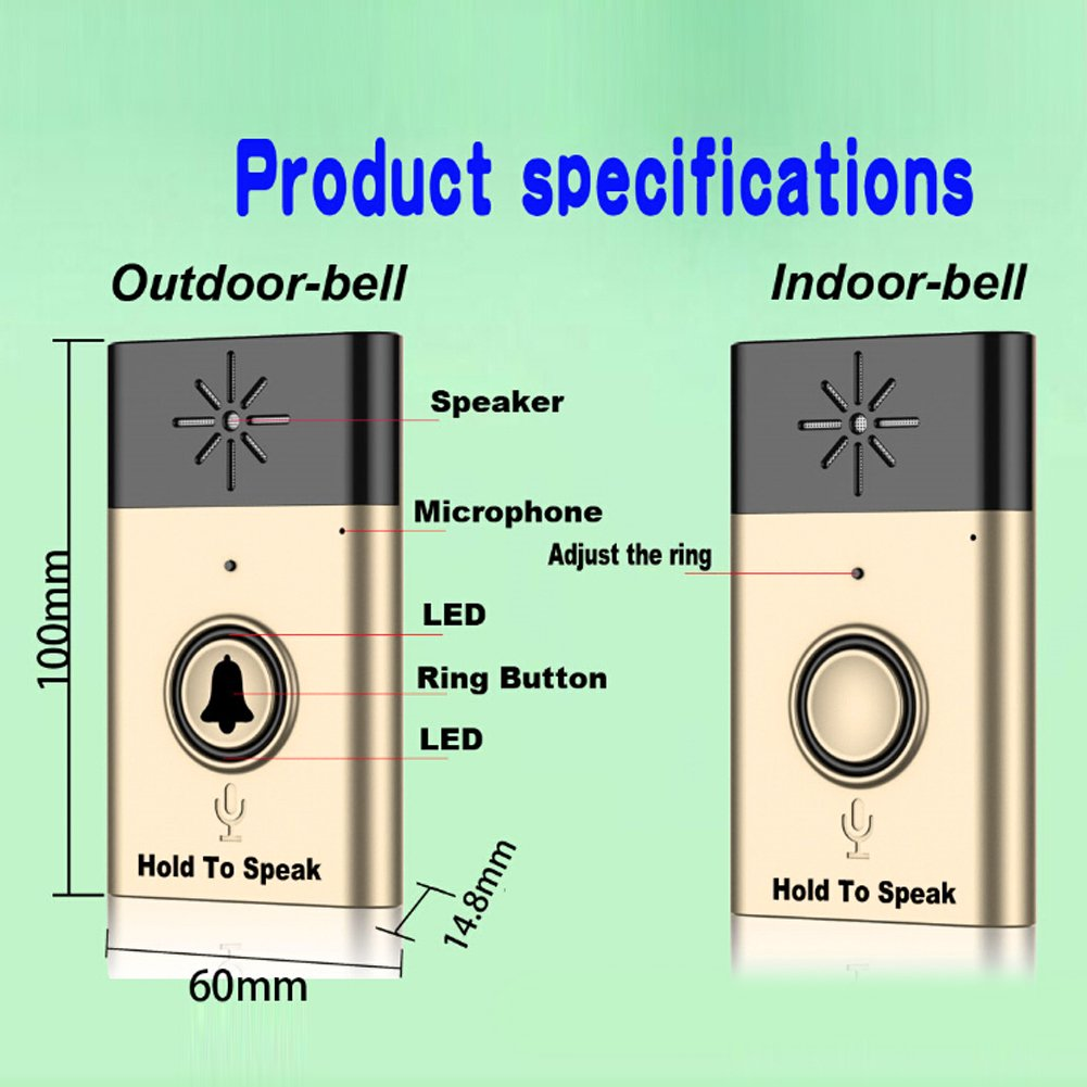Buy Rrimin New Wireless Doorbell With Voice Intercom 300m Distance Circuit Diagram Golden Online At Low Prices In India