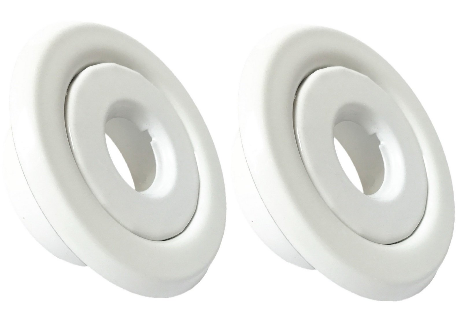 Happy Tree (2 Pack) 1/2'' IPS Fire Sprinkler Head Escutcheon Standard Recessed Cover Two Piece Rosette White