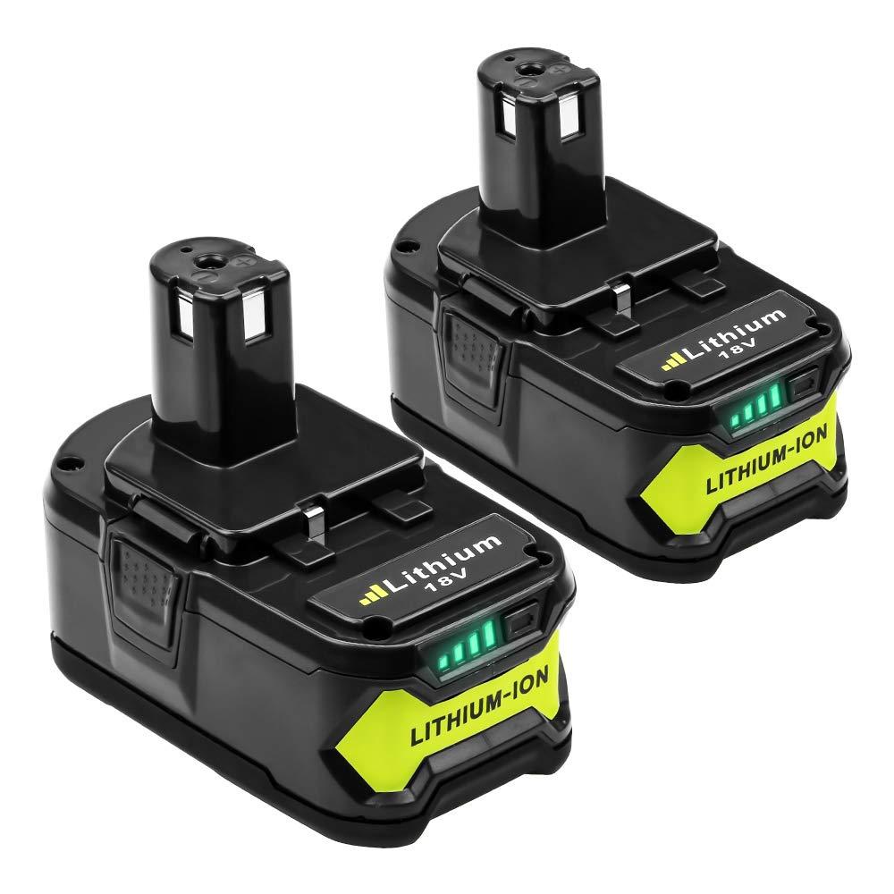 RB18L50 RB18L40 RB18L25 RB18L15 RB18L13 P108 P107 P122 P104 P105 P102 P103 2 X DOSCTT Reemplazo para Ryobi 18V 5000mAh Li-Ion Bater/ía ONE
