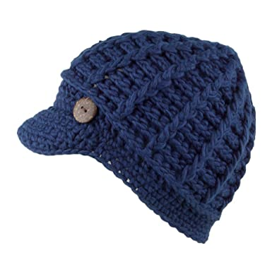 99c2da136e9 Scala Hats Knitted Baker Boy Cap - Navy Blue 1-Size  Amazon.co.uk ...