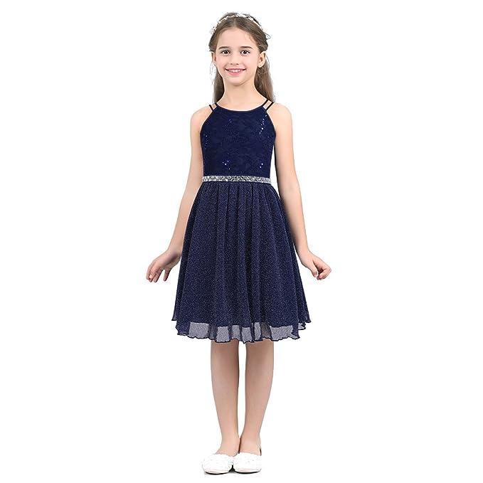 Freebily Vestido de Princesa Boda Fiesta Bautizo Vestido de Encaje Flores para Dama de Honor Chica Niña Infantil: Amazon.es: Ropa y accesorios