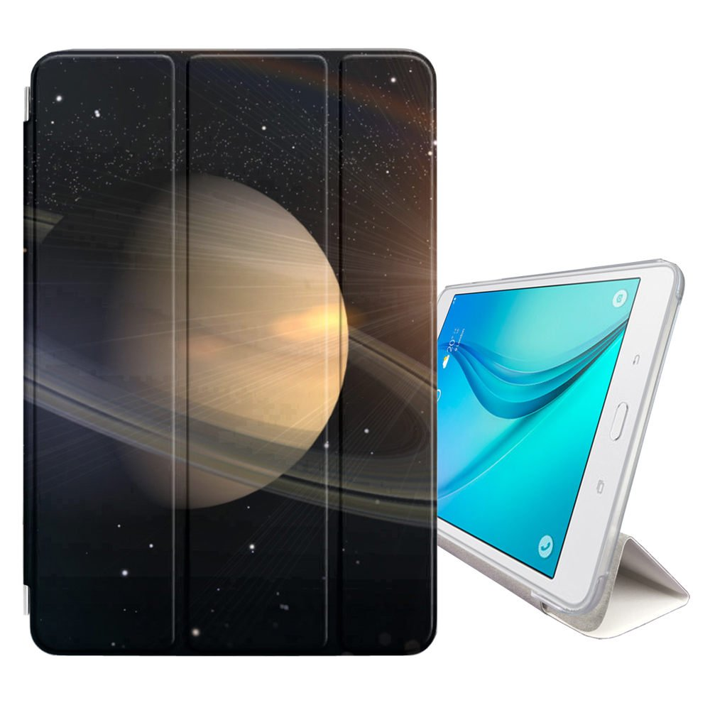 STPlus Planet Saturn Solar System Space Smart Cover With Back Case + Auto Sleep/Wake Function + Stand for Samsung Galaxy Tab A 8.0'' (2017) (T380/T385 Series)