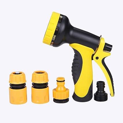 7e4ccdd05e64 Garden Hose Nozzle Hose Nozzle Heavy Duty,10 Spray Type Flow Control Nozzle,