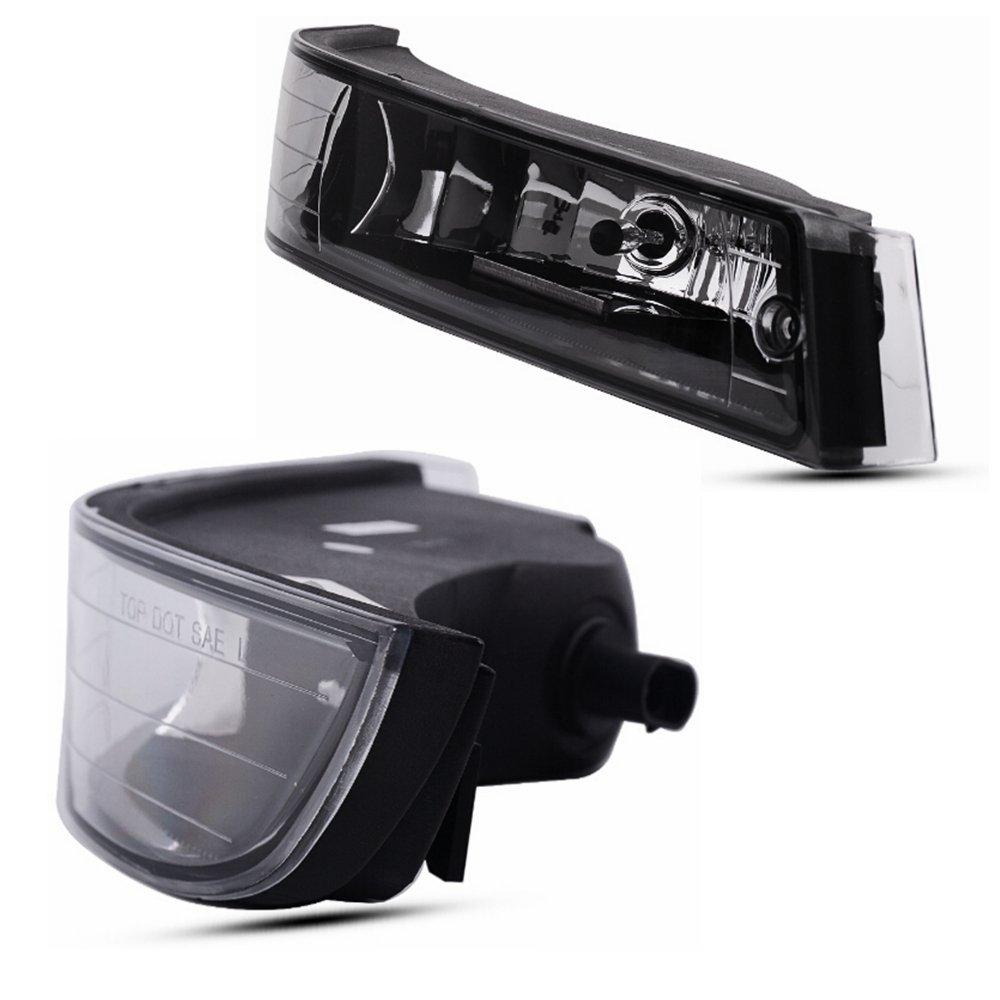 OE Style Clear Lens w// 893 12V 37.5W Bulbs Fog Lights For Chevy Impala 2000 2001 2002 2003 2004 2005