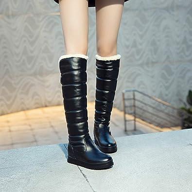 bdd63f90c36297 Wintermode-Stiefeletten Schneeschuhe Winter Damen Warm Knie High Toeround  Down Oberschenkel Wasserdichte Schuhe Schnee Stiefel