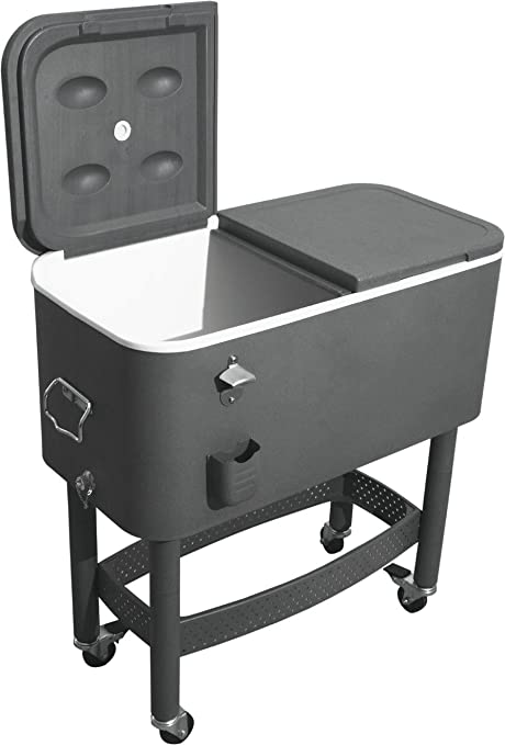 Recipiente térmico nevera helados con armazón y ruedas/capacidad ...