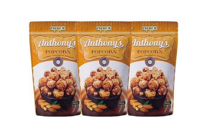 caramelo palomitas de Asahi confiter?a Anthony y almendras con sabor 45gX3 bolsas