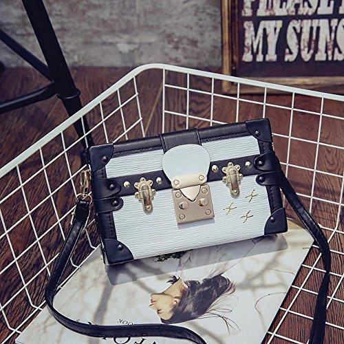 Aoligei Lock Bag Women Printing Korean Version Fashion Baotan Pu Small Square Buckle Oblique Cross Shoulder Pack B