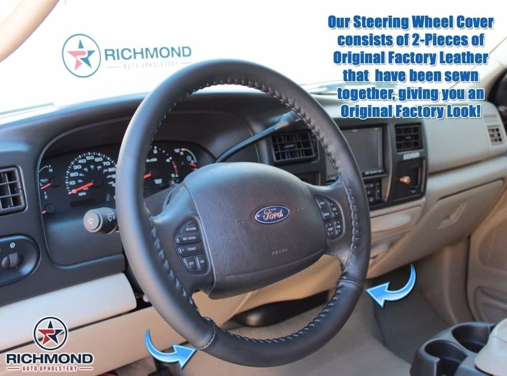 Richmond Auto Upholstery - Credence Leather wholesale Wheel Black Steering Cover