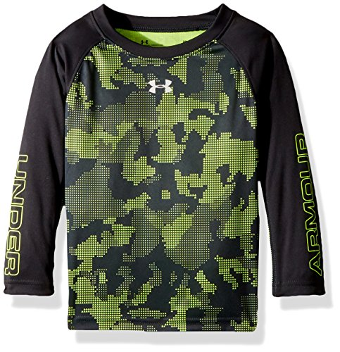 Under Armour Boys' Toddler Utility Camo Long Sleeve T-Shirt, Anthracite, 2T Boys Utility Long Sleeve
