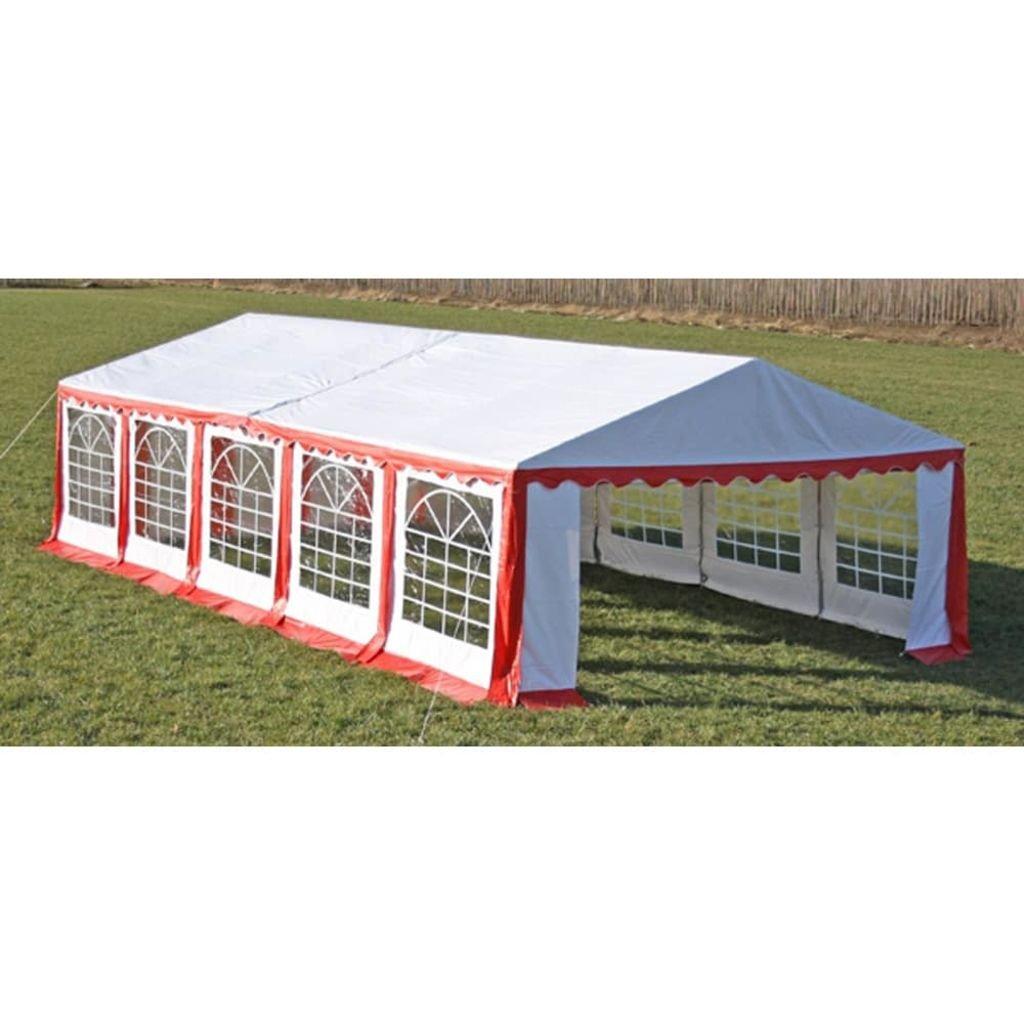 Xingshuoonline Outdoor Partyzelt 10 x 5 m Partyzelt rot Zelte für Partys für alle Ihre Outdoor Party