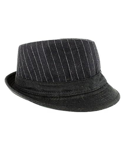e88f374a2 Amazon.com: Fun Central AT855 Black Pinstripe Fedora, Fedora Hats ...