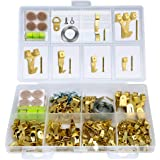 Hopttreely Heavy Duty Photo Frame Hooks, 216 Pieces Ultimate Picture Hanging Kit (IncludIing Hangers, Nails, D-Ring, Wire, Level, Felt Pads More), Picture Hanger Assortment Tool Wall Mounting
