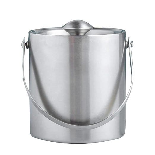 Compra YJGYMZ JEYL Ice Bucket Silver 1.3L Tapa con ...