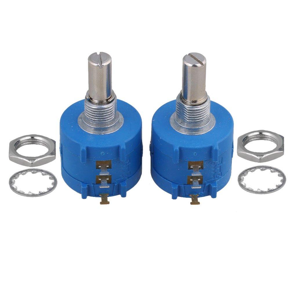 Cnbtr Bleu 3590s-2– 104L 100 K Ohm rotatif Wirewound potentiomè tre de haute pré cision Pot de fleurs Lot de 2 yqltd CNBTR43