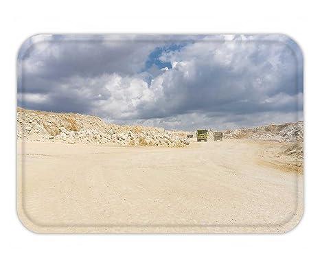 Amazon com : Beshowere Doormat limestone mining open pit