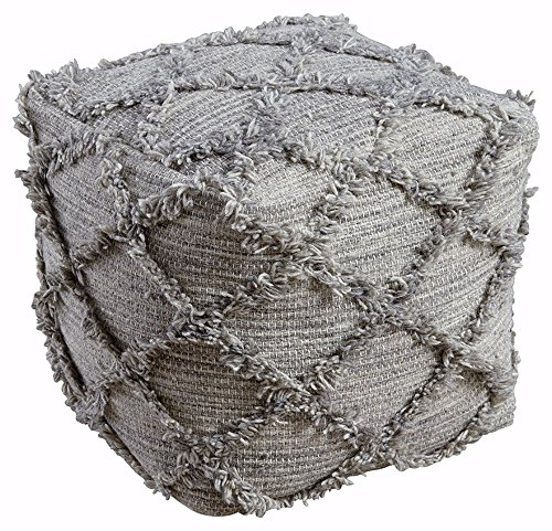 Signature Design by Ashley A1000388 Pouf, Natural/Gray (Cube Pouf)
