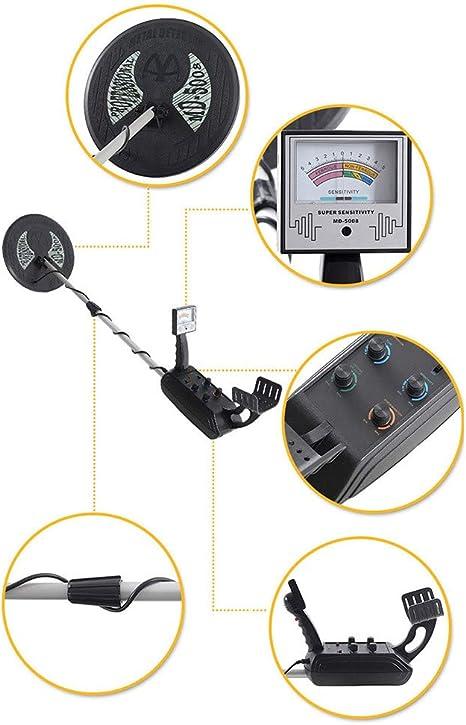 HUKOER Detector de Metales MD-5008 3.5M Detector de Metales ...