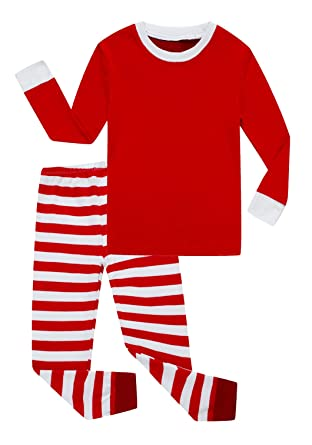 b38b9f6e3 Amazon.com  Family Feeling Striped Boys Girls 2 Piece Christmas ...