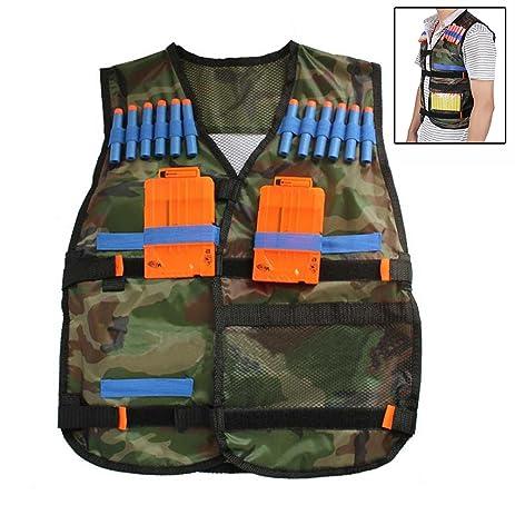 Kids Tactical Vest Kit For Nerf Guns N Strike Elite Refill