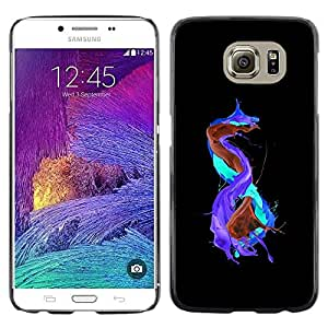 LECELL -- Funda protectora / Cubierta / Piel For Samsung Galaxy S6 SM-G920 -- Abstract Color Splashes --