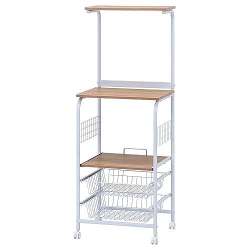 炊飯器やポットなどをまとめて置けるロータイプのレンジラック。便利なスライド棚、キャスター付きで掃除もラクラクです。天板は女性でも手が届きやすい低めの設計。一人暮らしにもオススメです。