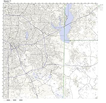 Mesquite Zip Code Map.Amazon Com Mesquite Tx Zip Code Map Not Laminated Home Kitchen