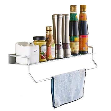 YAN&WEI Küche Utensil Hängendes Regal, Aluminium-Küche Aufbewahrungs ...
