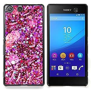 Eason Shop / Premium SLIM PC / Aliminium Casa Carcasa Funda Case Bandera Cover - Copo de nieve de la Navidad blanca - For Sony Xperia M5