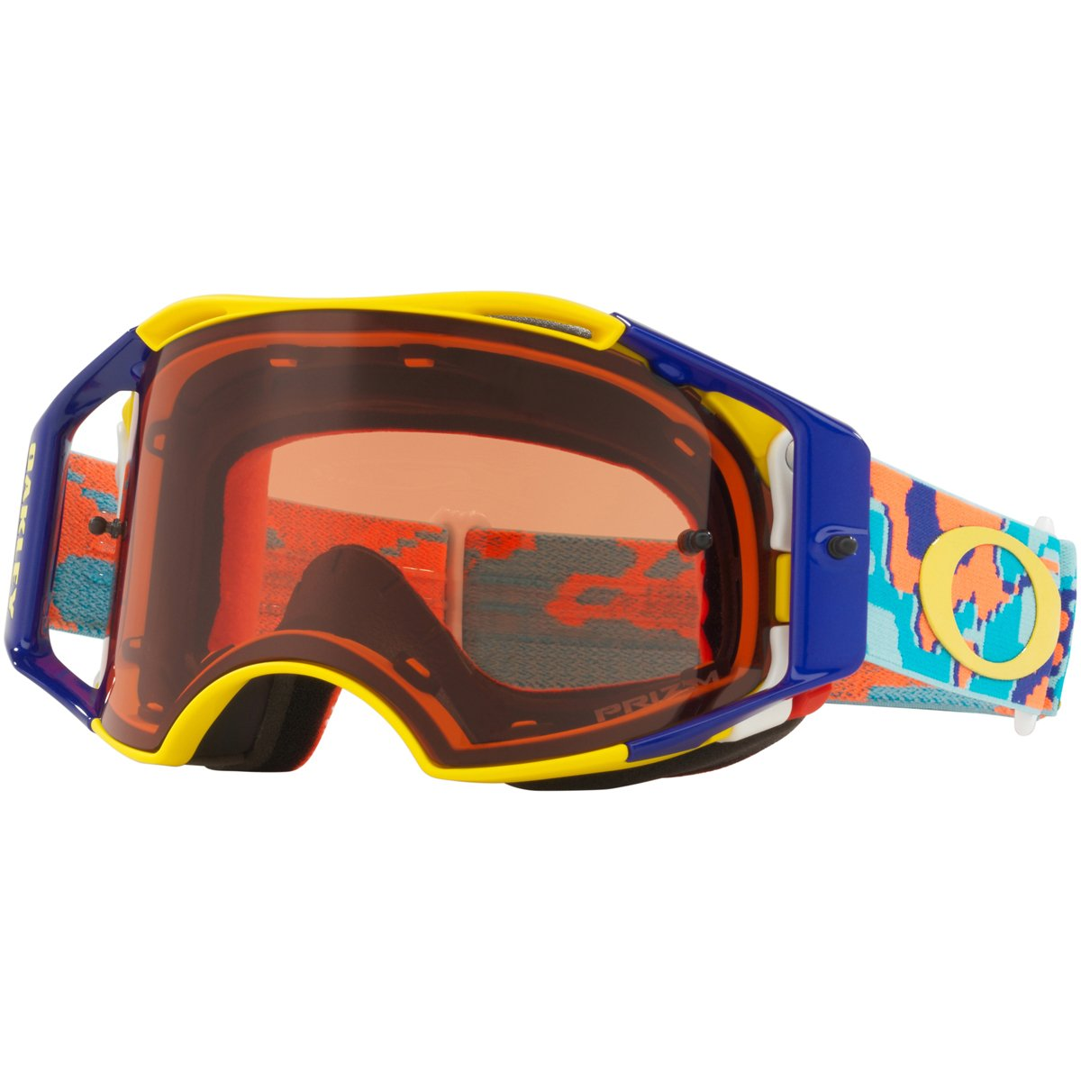 Oakley ABMX Thermo Camo OrgBlue with PrizmMXBronze unisex-adult Goggles (Blue, Medium), 1 Pack