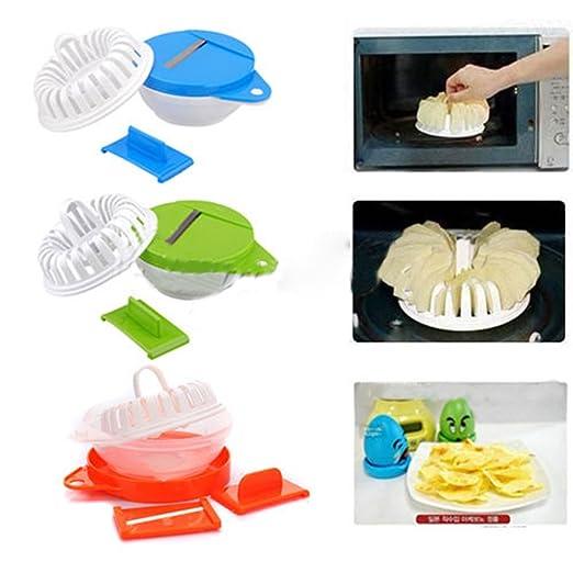 Microondas DIY Apple Patata Verduras Crisp Chips cortador ...