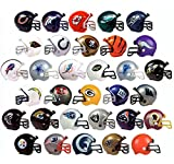 "New 2017 NFL Helmet Set. All 32 Teams. Mini Football 2"" Inch Helmets. Complete Team Logo Cake Toppers Party Favors. Collectible Gumball Vending Steelers Chiefs Cowboys Patriots Packers Bears Jets"