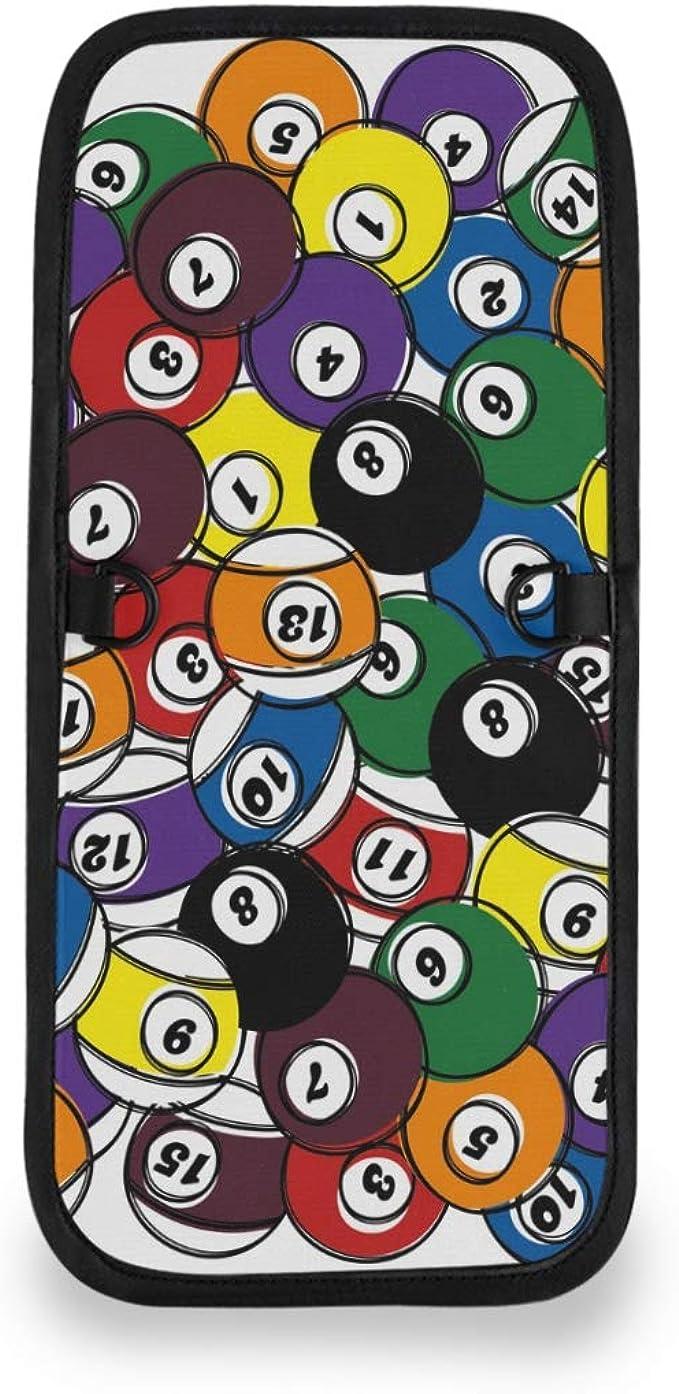 XiangHeFu Monedero Monedero Titular de la tarjeta Monedero Niñas Número colorido Bola de billar Bolsa de teléfono ...