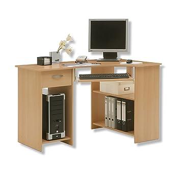 Roller Eck Schreibtisch Felix Buche Amazonde Küche Haushalt