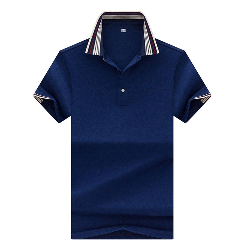 Chic Mens Short Sleeve Polo T-Shirt Raglan Sleeve