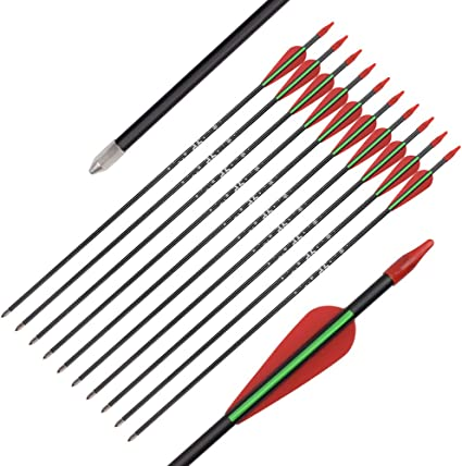 24-26inch Fiberglass Arrows Youth Archery Hunting Target Practice Safety Points