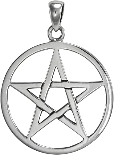 Pentagramme Pendentif en Argent 925