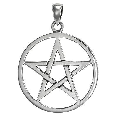 Amazon large interwoven sterling silver pentagram pentacle large interwoven sterling silver pentagram pentacle pendant aloadofball Gallery