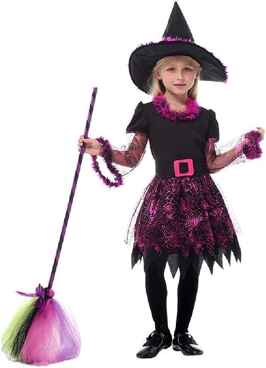 ZTZKS Disfraz de Bruja para niños Niñas Halloween Carnaval de ...