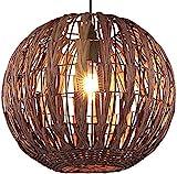 Bamboo Wicker Lighting Fixtures Modern Chandelier