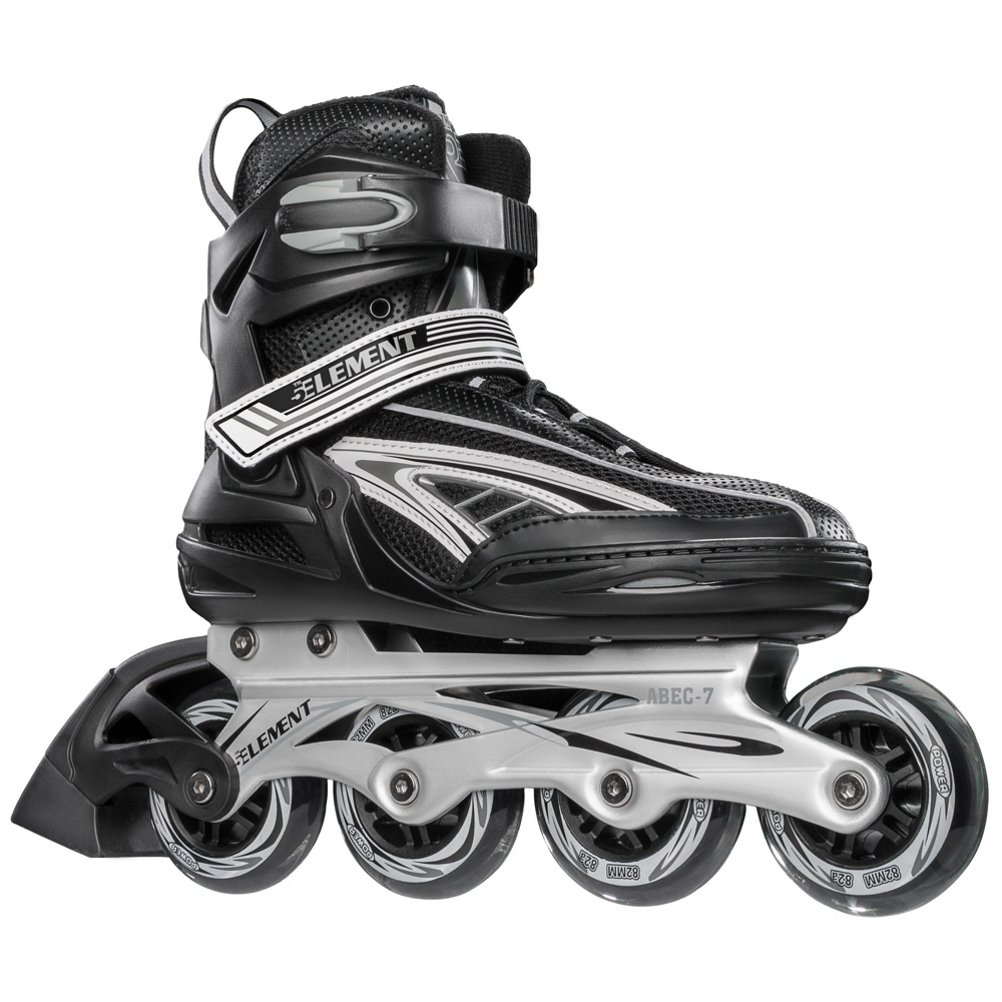 5th Element Panther XT Mens Inline Skates Black-Gray 12.0